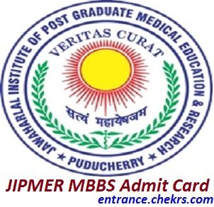 JIPMER MBBS Admit Card 2017