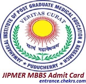 JIPMER MBBS Admit Card 2017