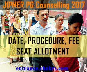 JIPMER PG COUNSELLING SCHEDULE