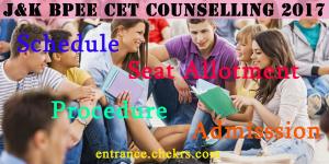 J&K BOPEE CET Counselling Procedure