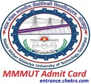 MMMUT Admit Card 2017
