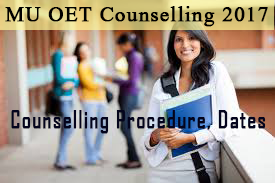 MU OET Counselling schedule