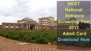 NEST/ NISER Admit Card