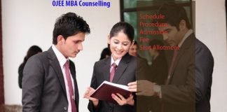 OJEE MBA Counselling dates