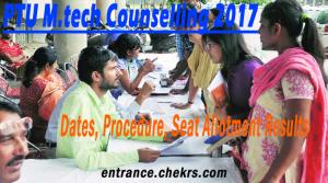 PTU M.tech counselling schedule