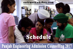 Punjab engineering admission counselling schedule