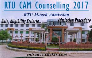 RTU CAM Counselling Schedule