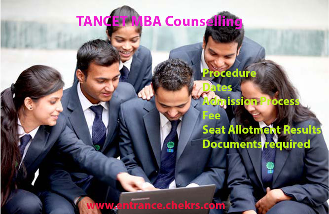 TANCET MBA Counselling schedule