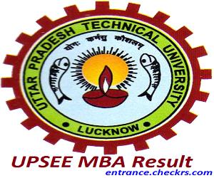UPSEE MBA Result 2017