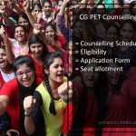 CG PET (PPHT) Counselling- Online Seat Allotment Procedure, Schedule