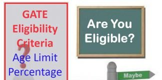 GATE Eligibility Criteria - Age Limit, Percentage in CS, ECE, Mechanical Engineering