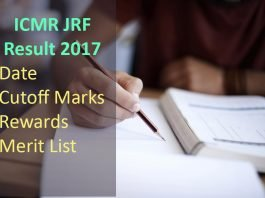 ICMR JRF Result- Date, Cutoff Marks, Rewards, Merit List
