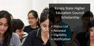 Kerala Higher Education (KSHEC) Scholarship- Form, Renewal