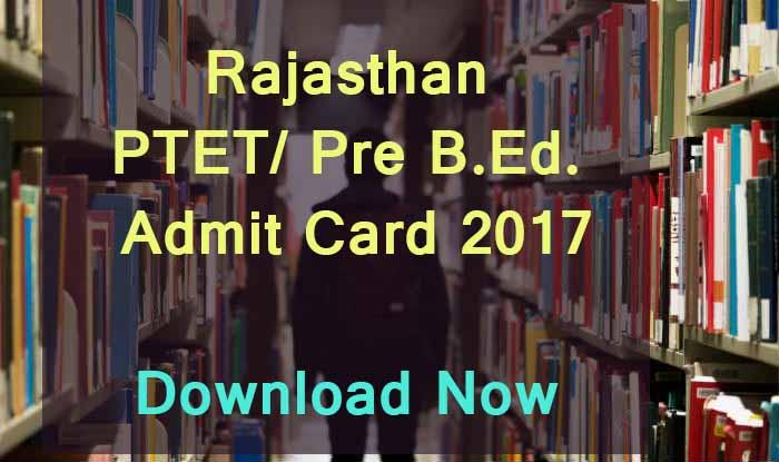 rajasthan pre bed admit card