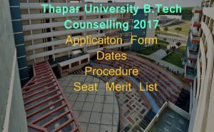 thapar university jee counselling