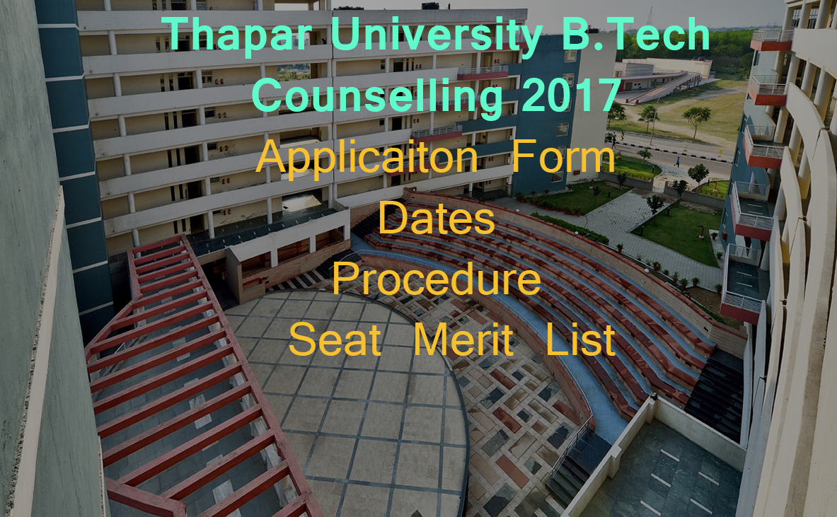thapar university jee counselling