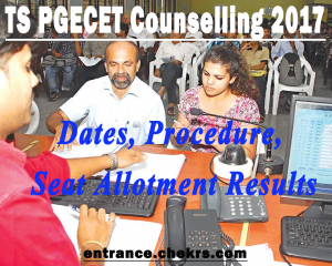 TS PGECET Counselling schedule