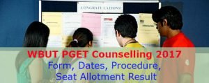 WBUT PGET Counselling 2017
