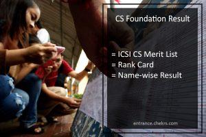 CS Foundation Result June - ICSI CS Merit List @icsi.examresults.net