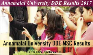 annamalai university dde msc 1st/ 2nd year results