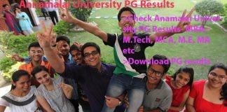 Annamalai University PG Results