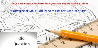 Gate architecture old question paper