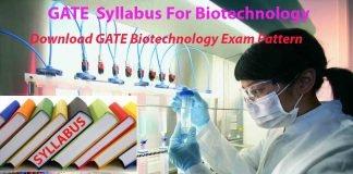 download gate syllabus for biotechnology