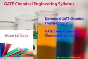 gate syllabus for chemical engineering