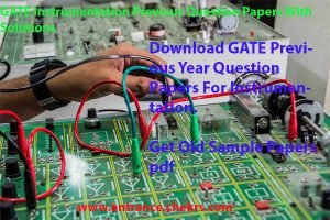 gate previous year question papers for instrumentation