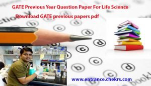 gate previous papers for life sciences