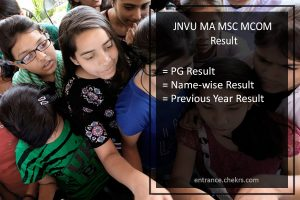 JNVU MA MSC MCOM Result- Previous and Final Year Results Download