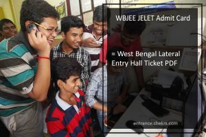 WBJEE JELET Admit Card, Download West Bengal Lateral Entry Hall Ticket