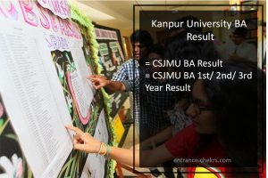 Kanpur University BA 1st 2nd 3rd Year Result- CSJMU UG Results