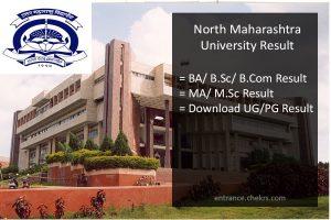 North Maharashtra University Result, NMU BA BSC BCOM MA MSC Results