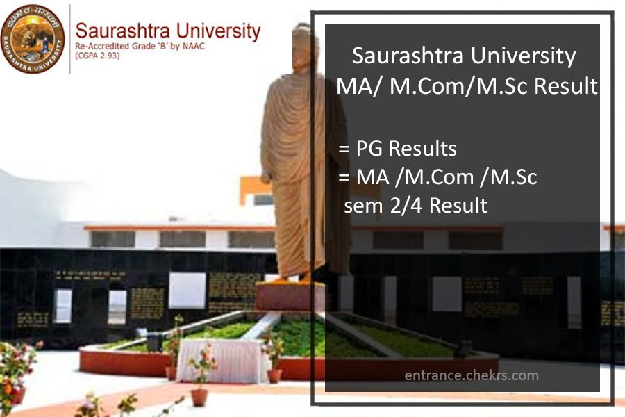 Saurashtra University MA MCOM MSC (Sem 2nd 4th) Result, Download