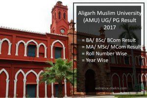Aligarh Muslim University (AMU) Result- BA MA BSc MSc BCom MCom Results