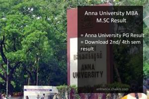 Anna University MBA Result - M.Sc 2nd/ 4th Semester Results Name Wise