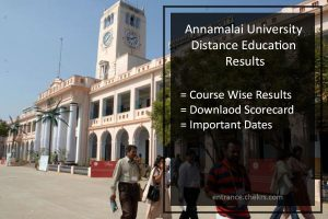 Annamalai University Distance Education Results- Check Here