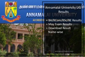 Annamalai University Results- UG 1st/ 2nd/ 3rd Year Exam Result Available