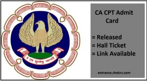 CA CPT Admit Card- June Exam Hall Ticket, Result Date
