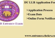 DU LLB Application Form. Apply Online, Exam Dates