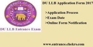DU LLB Application Form. Apply Online, Exam Dates
