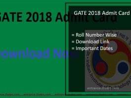 GATE Admit Card- Hall Ticket Download By Name, Call Letter, Roll No Slip