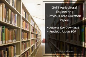 GATE Previous Year Papers for Agricultural Engineering- Pdf Download