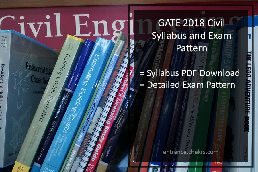 Gate exam syllabus for civil engineering 2015 pdf free