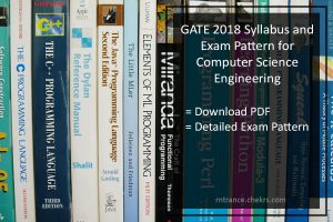 GATE Computer Science (CSE) Syllabus and Exam Pattern