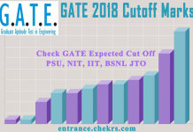 GATE Cutoff Marks (Expected) for IIT PSU NIT BSNL JTO, Previous Year Cutoff