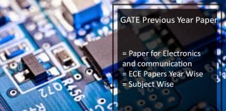 GATE Previous Year Question Papers for ECE- Solutions Pdf Download