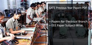 GATE Previous Year Question Papers With Solutions for EEE- Pdf Download