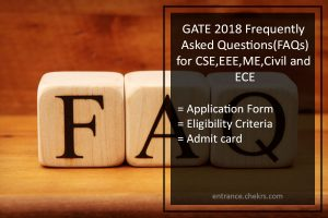 GATE Frequently Asked Questions (FAQ)- ECE, CSE, EEE, Mech, Civil Engineering